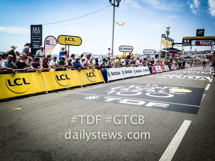 finish line in Nice at the TTT